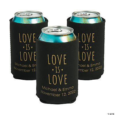 Personalized Premium Love is Love Neoprene Can Coolers Image Thumbnail