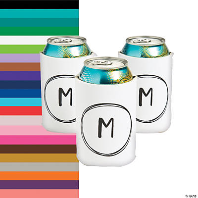 Personalized Premium Monogram Neoprene Can Coolers