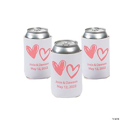 Personalized Premium Neoprene Hearts Can Coolers Image Thumbnail