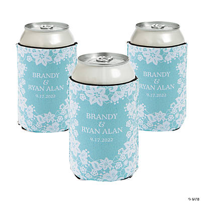 Personalized Premium Neoprene Lace Can Coolers Image Thumbnail