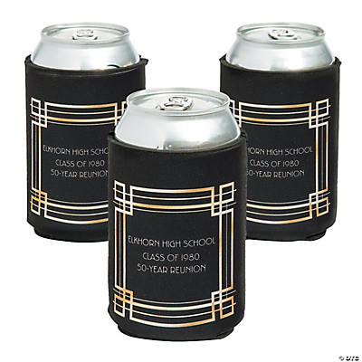Personalized Premium Roaring 20s Art Deco Neoprene Can Coolers Image Thumbnail