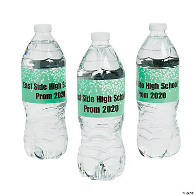 Personalized Prom Water Bottle Labels Image Thumbnail