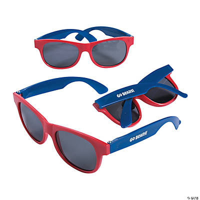 Personalized Red & Blue Two-Tone Sunglasses Image Thumbnail