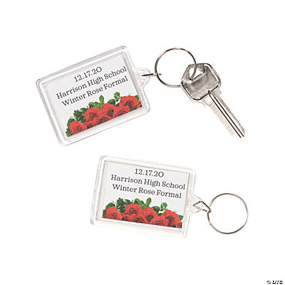 Personalized Rose Key Chains Image Thumbnail
