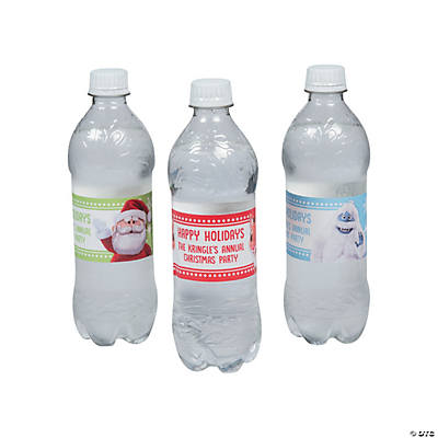 Personalized Rudolph the Red-Nosed Reindeer<sup>&#174;</sup> Water Bottle Labels Image Thumbnail
