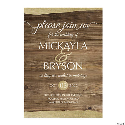 Personalized Rustic Chic Invitations Image Thumbnail
