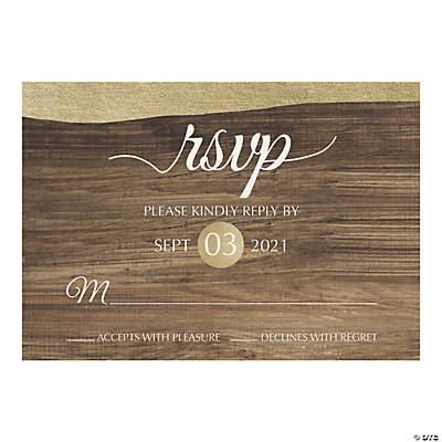 Personalized Rustic Chic Response Cards