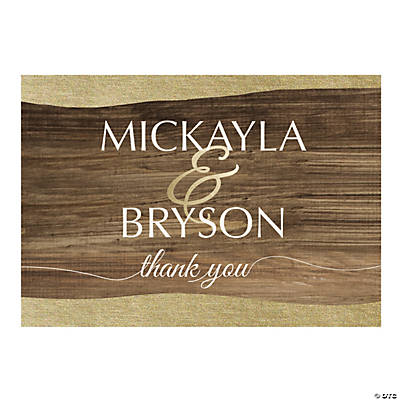 Personalized Rustic Chic Thank You Cards Image Thumbnail