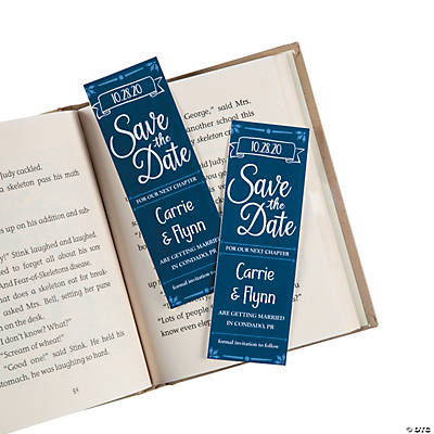Personalized Save the Date Bookmarks
