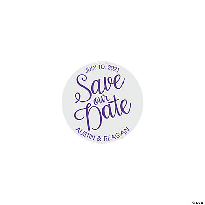 Personalized Save the Date Favor Stickers Image Thumbnail