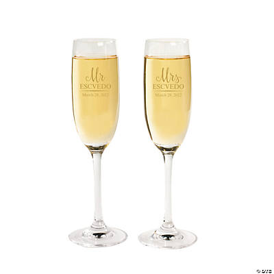 Personalized Script Champagne Flutes Image Thumbnail