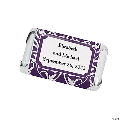 Personalized Scrollwork Mini Candy Bar Sticker Labels Image Thumbnail