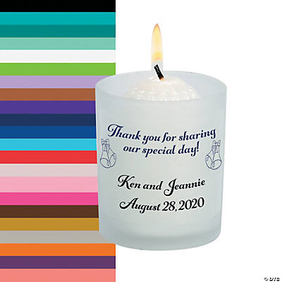 Personalized Share Our Day Wedding Votive Candle Holders Image Thumbnail