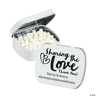 Personalized Sharing the Love Hashtag Mint Tins Image Thumbnail
