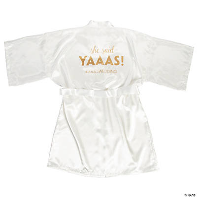 Personalized She Said Yaaaas Robe