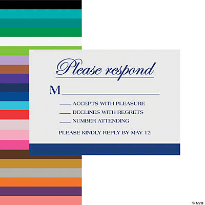 Personalized Simple Response Cards