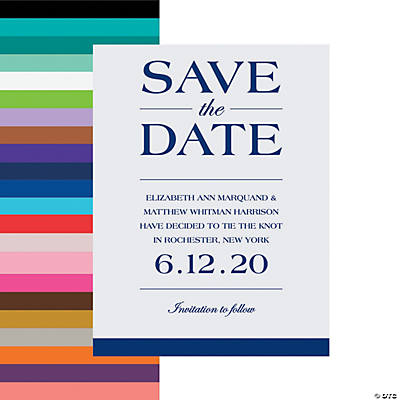 Personalized Simple Save the Date Cards