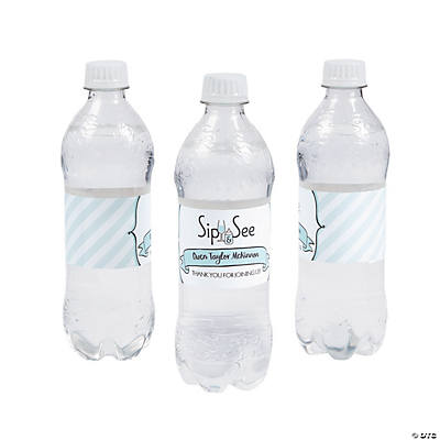 Personalized Sip & See Water Bottle Labels Image Thumbnail