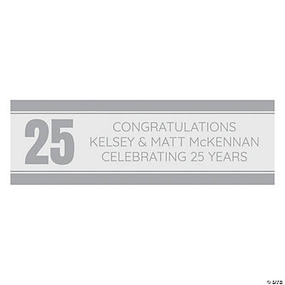 Personalized Small Anniversary Banner