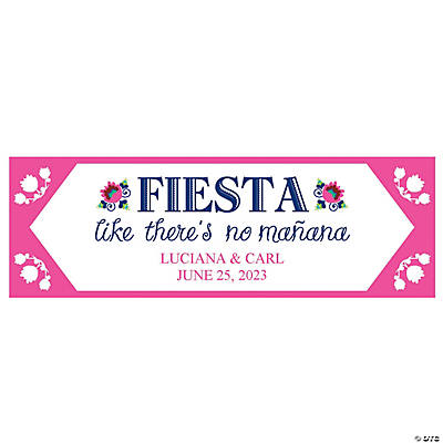 Personalized Small Fiesta Wedding Shower Vinyl Banner Image Thumbnail