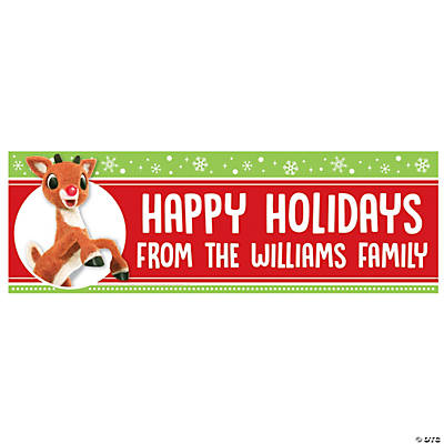 Personalized Small Rudolph the Red-Nosed Reindeer<sup>&#174;</sup> Vinyl Banner Image Thumbnail
