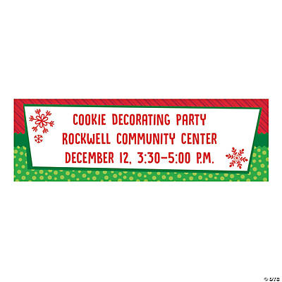 Personalized Small Whimsical Christmas Vinyl Banner Image Thumbnail