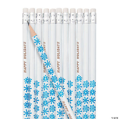 Personalized Snowflake Pencils Image Thumbnail