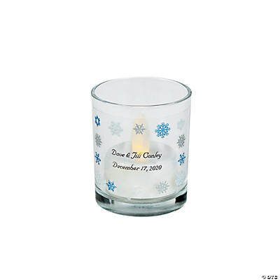 Personalized Snowflake Votive Candle Holders Image Thumbnail