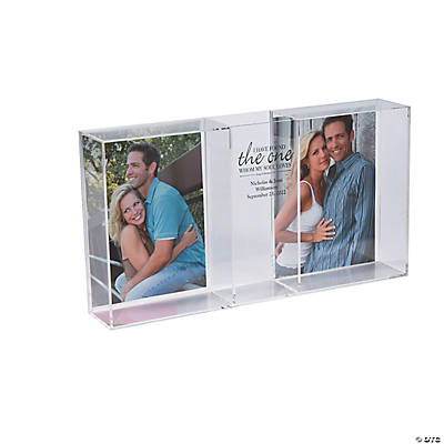 Personalized Song Of Solomon Sand Ceremony Shadow Box With Photo Frames