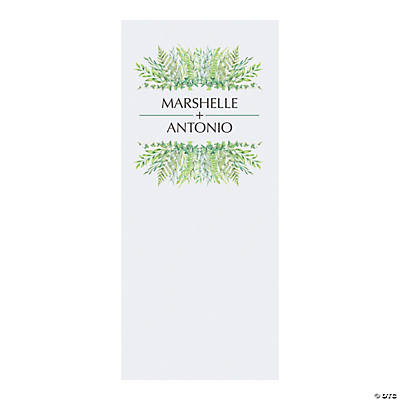 Personalized Spring Greenery Vinyl Backdrop
