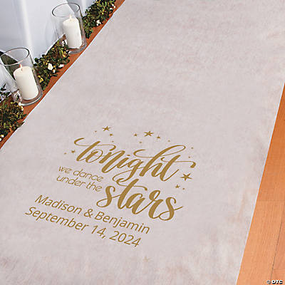 Personalized Starry Night Aisle Runner Image Thumbnail