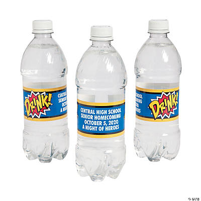 Personalized Superhero Water Bottle Labels Image Thumbnail