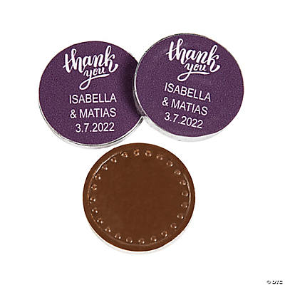Personalized Thank You Chocolate Coins