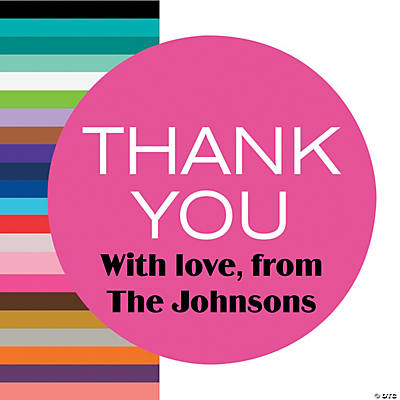 Personalized Thank You Favor Stickers Image Thumbnail