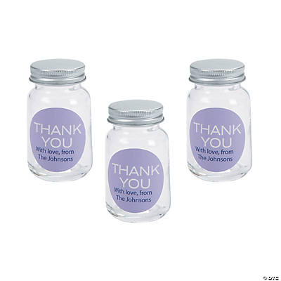 Personalized Thank You Mini Mason Jar Favors
