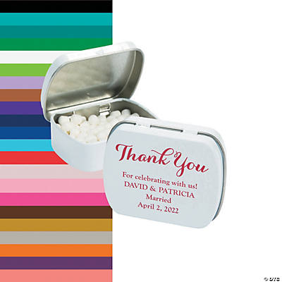 Personalized Thank You Mint Tins Image Thumbnail