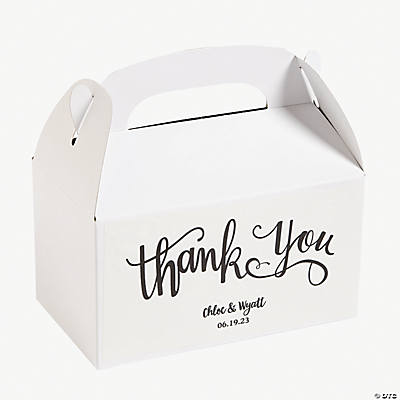 Personalized Thank You Treat Boxes