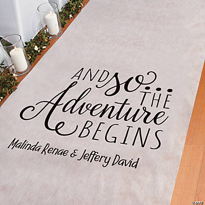 Personalized The Adventure Begins Aisle Runner