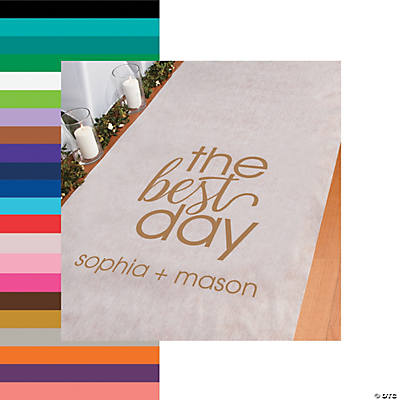 Personalized The Best Day Aisle Runner Image Thumbnail