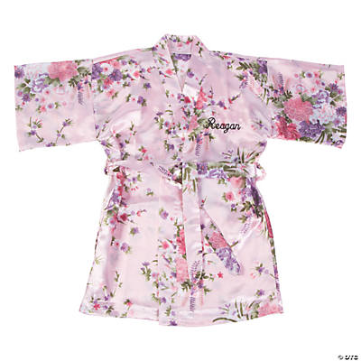 Personalized Toddler's Flower Girl Pink Floral Robe