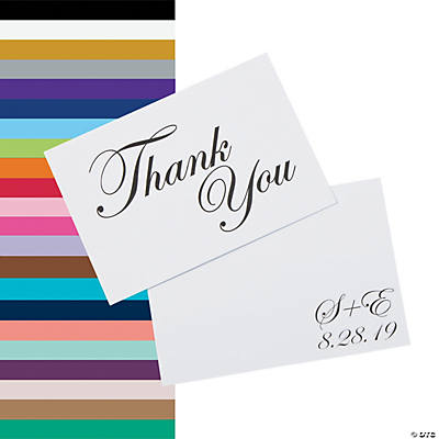 Personalized Traditional Script Thank You Cards