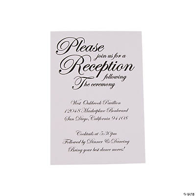Personalized Traditional Script Wedding Reception Cards Image Thumbnail