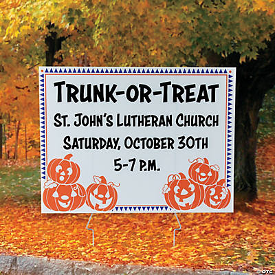 Personalized Trunk-or-Treat Yard Sign