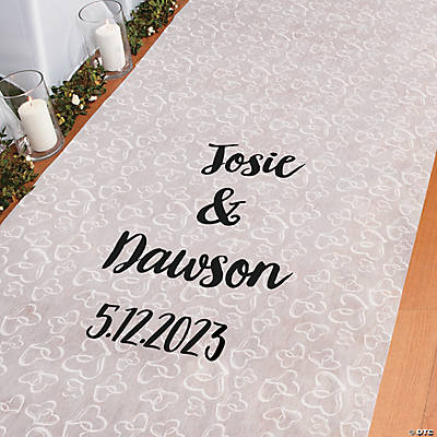Personalized Two Hearts Aisle Runner