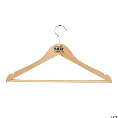 Personalized Unfinished Wood Suit Up Hanger