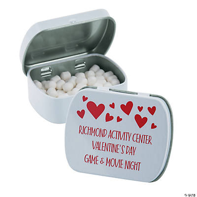 Personalized Valentine's Day Mint Candy Tins