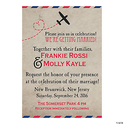 Personalized Vintage Postcard Wedding Invitations Discontinued