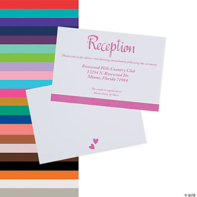 Personalized We Do Wedding Reception Cards