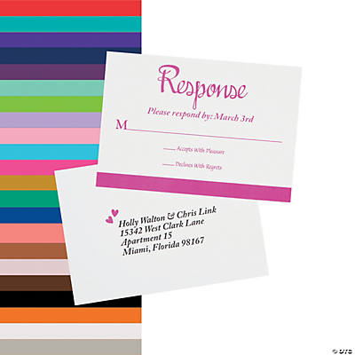 Personalized We Do Wedding Response Cards