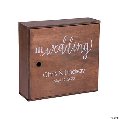 Personalized Wedding Keepsake Box with Lid